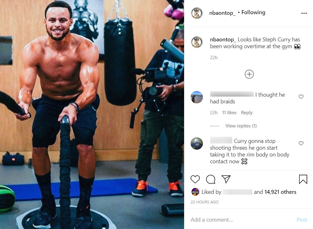 Steph Curry S Ripped Body Photo Shared Online Before 2020 21 Nba Season Begins