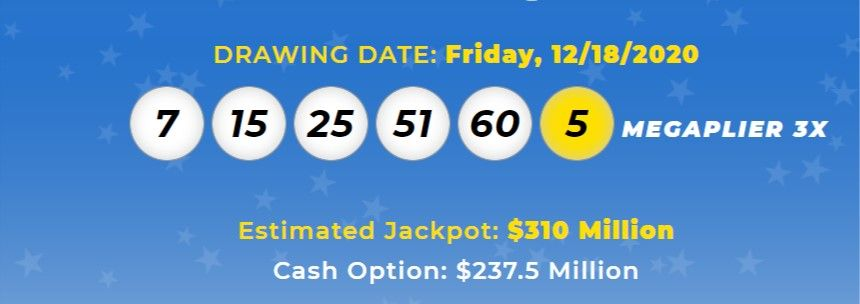 Mega Millions Lottery Numbers For Dec 18 2020 Check Winning Results