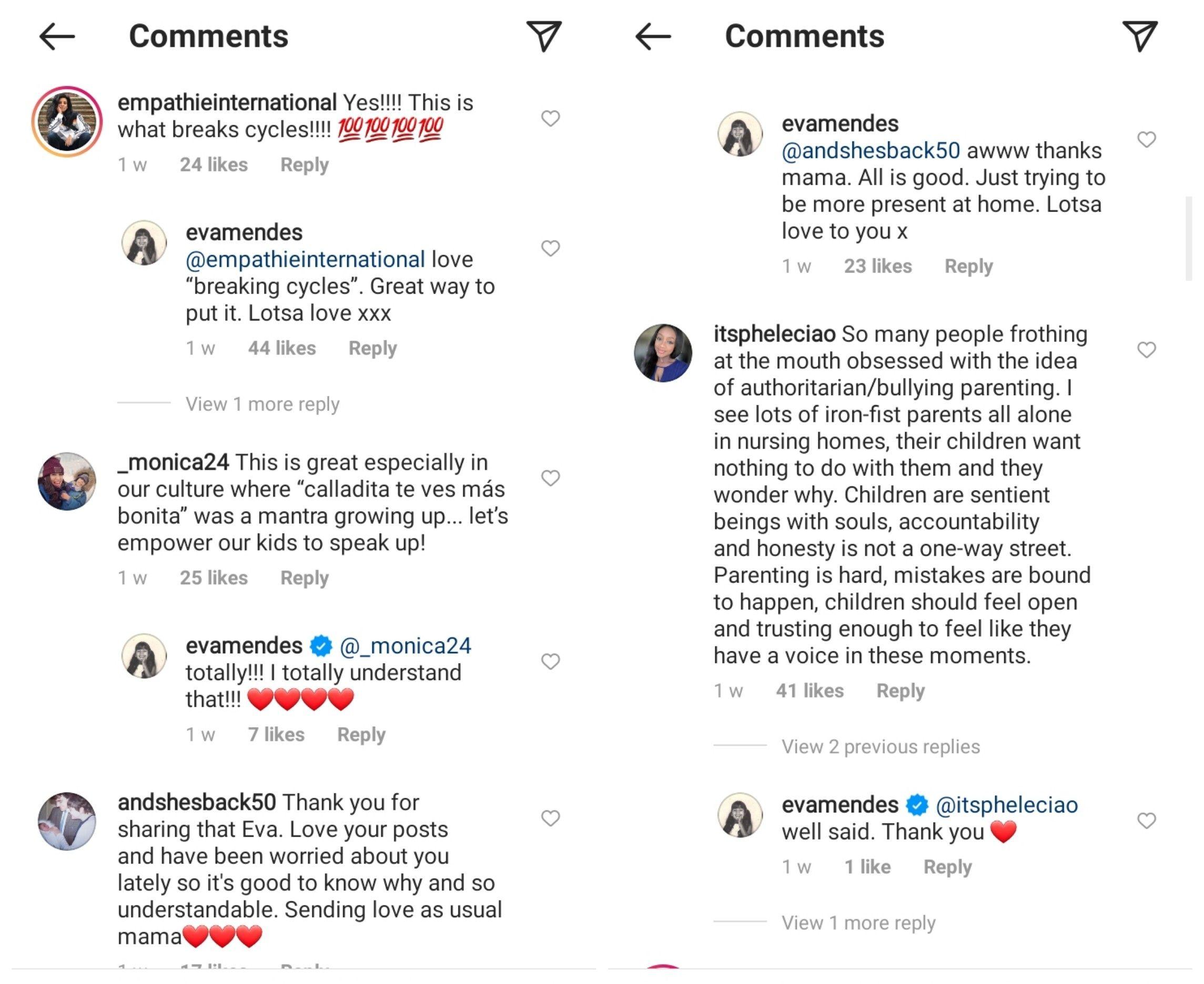 Eva Mendes comments