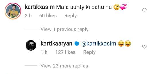 Kartik Aaryan's fan comment