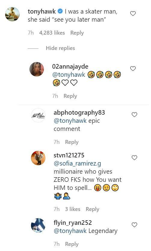 Tony Hawk Reply