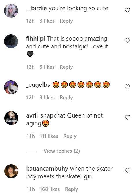 Avril Lavigne comments