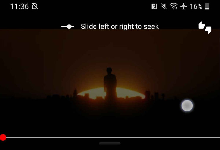 YouTube video playback controls
