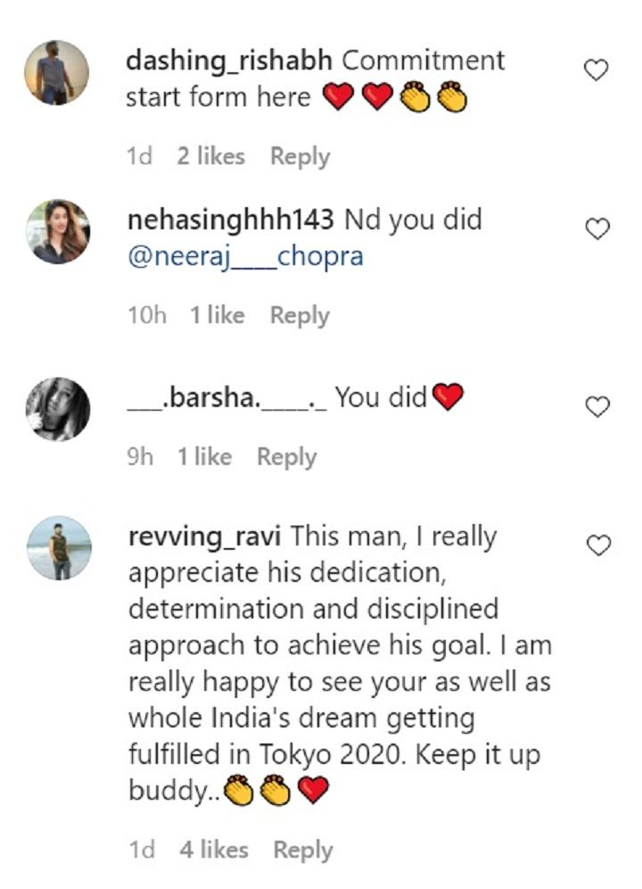 Neeraj Chopra comments