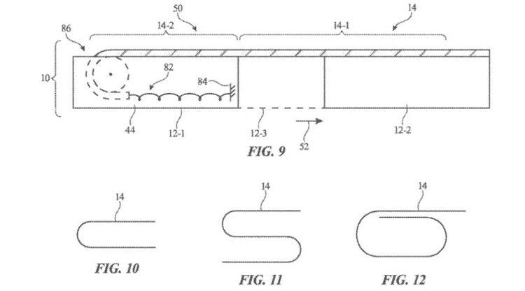 Apple patent exapndable iPhone