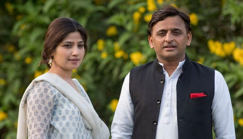 Image result for Akhilesh and Dimple