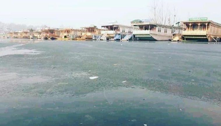 IN PICS   Dal Lake freezes as severe cold wave grips Kashmir Valley, tourists ecstatic