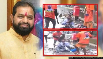 शिवसेना विधायक की गुंडागर्दी: नाले की सफाई न होने पर BMC अधिकारी पर डलवाया कचरा, देखें VIDEO