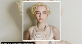 Julia Garner's Emmy look with vintage silk & pearls can give Halloween dress inspiration
