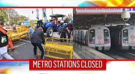 Gates of multiple Delhi Metro stations closed as farmers' tractor rally turns violent