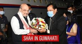 Amit Shah arrives in Guwahati, to hold two rallies & party meeting in poll-bound Assam