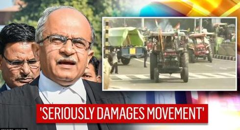 Prashant Bhushan laments farmer rally violence; two flags planted atop Red Fort
