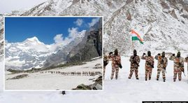 IN PICS: ITBP's Himveers scale snow clad Himalayas to secure the country