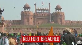 Farmers invade iconic Red Fort & plant own flag; shocking violence witnessed across Delhi