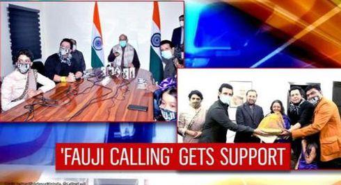 Rajnath Singh launches Sharman Joshi's 'Fauji Calling' trailer; Javadekar wishes team