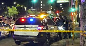 The Latest: Officer shot in Las Vegas amid protests