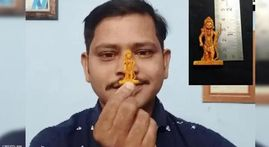 Odisha artist Moharana claims to have made world's smallest idol of Lord Ram