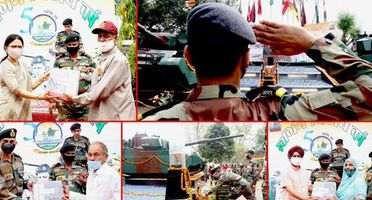 IN PICS: On 50th anniversary of Indo-Pak war of 1971; Swarnim Vijay Mashaal reaches J&K