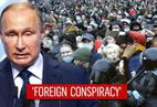Russian President Putin warns against 'western powers' trying to destabilize the govt