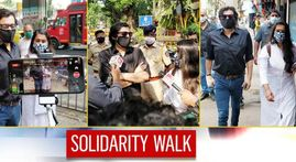 IN PICTURES: Arnab walks in solidarity with Republic's Sagarika; gets citizens' support