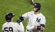 Judge homers, leaves early in Yanks' 9-6 win over Braves