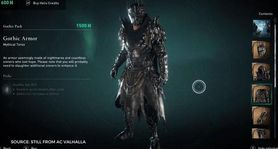 AC Valhalla Gothic Armor Set: Get the new Gothic Armor set with health regen capabilities