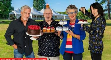 Co Host Of The Great British Bake Off Christmas 2021 What Happened To Prue On Great British Bakeoff Find Out Why She Has Crutches