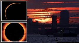 'Ring of Fire': Breathtaking pics of annual solar eclipse that left onlookers spellbound