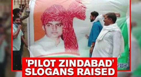 'Sachin Pilot Zindabad' slogans raised by Pilot camp, posters put back up at party office