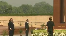 Pompeo and Esper lay wreaths at India war memorial