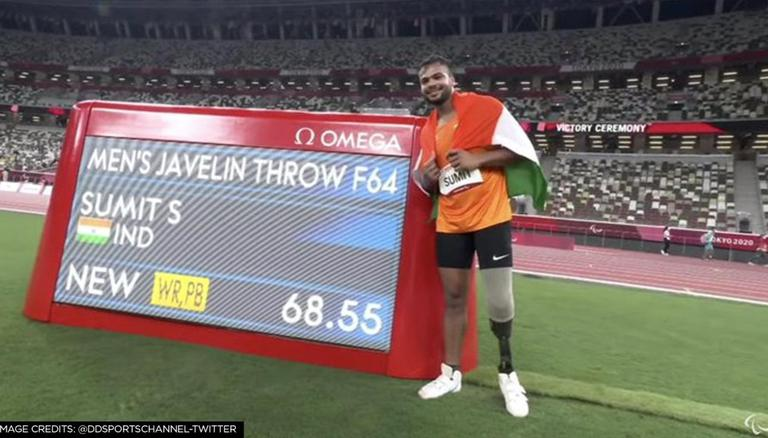 Sumit Antil wins Gold in Men's Javelin throw at Paralympics breaking world  record THRICE