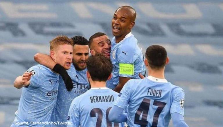 Man City Players Go Wild Celebrating After Reaching The Champions League Final Watch