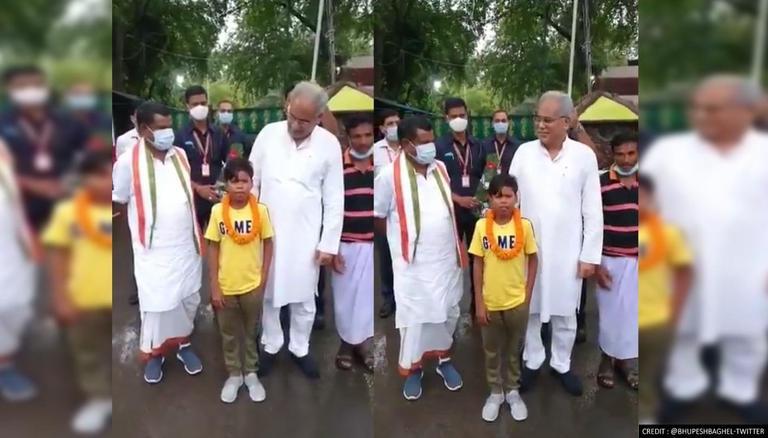 Bachpan Ka Pyaar' viral video star Sahadev felicitated by Chhattisgarh CM Baghel; WATCH