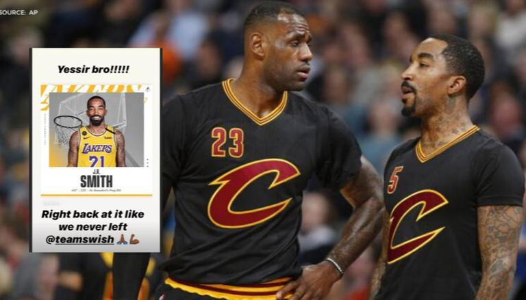 LeBron James Welcomes No.21 JR Smith To The Lakers, Says Its Like ...