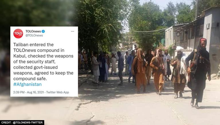 Taliban raids Afghan news channel TOLOnews in Kabul; says it'll keep the compound safe
