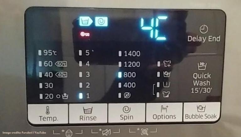 4C error in Samsung washing machine
