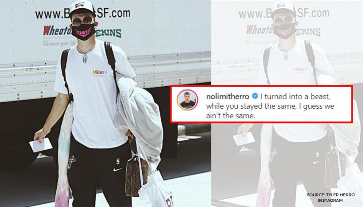 Miami Heat rookie Tyler Herro blasts haters on Instagram after arriving at Orlando bubble - Republic World