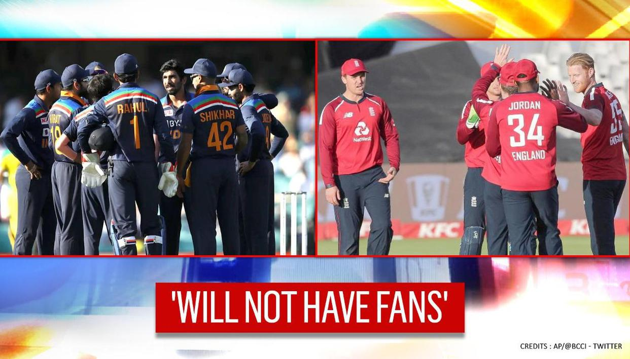 India Vs England: Three-match ODI series to be played without presence of fans - Republic TV
