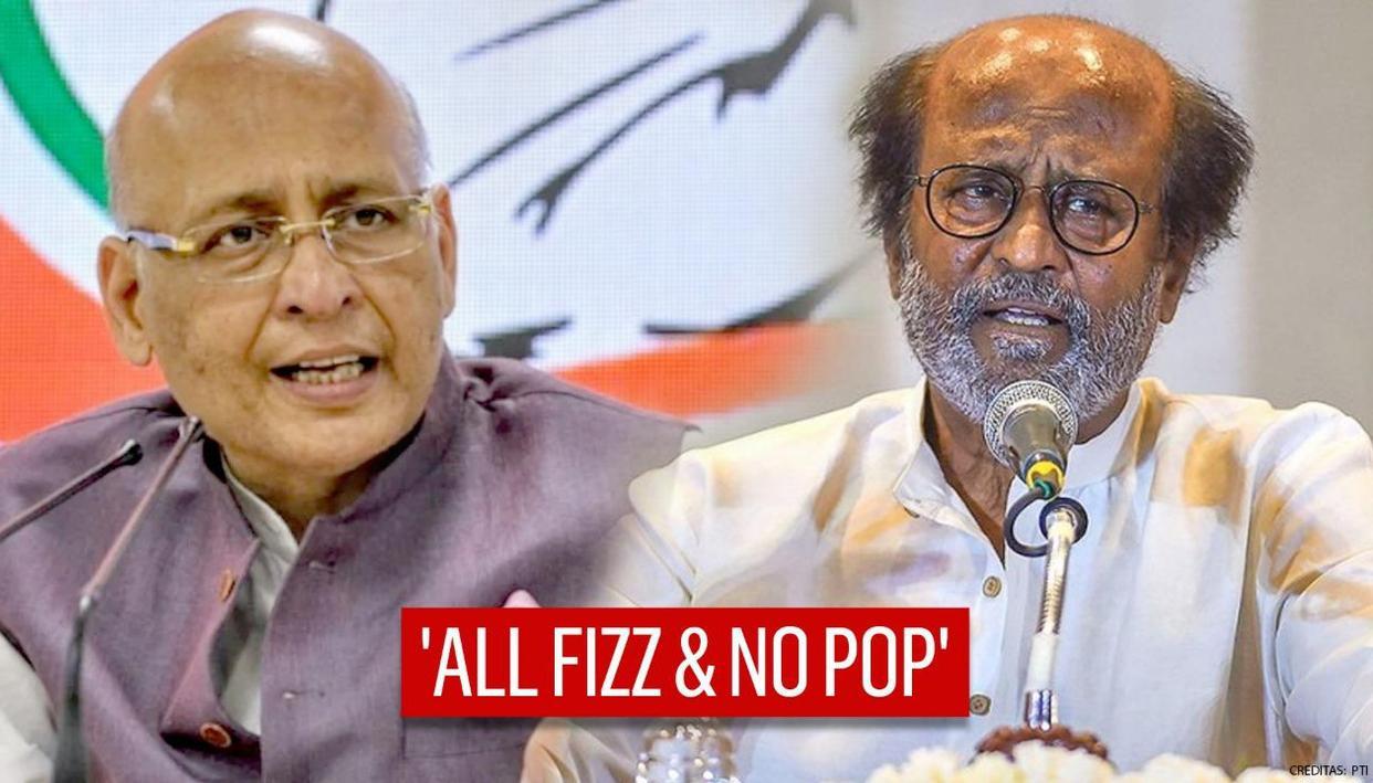 Singhvi calls Rajinikanth 'BJP's puppet', compares him with Chirag Paswan & touts Stalin