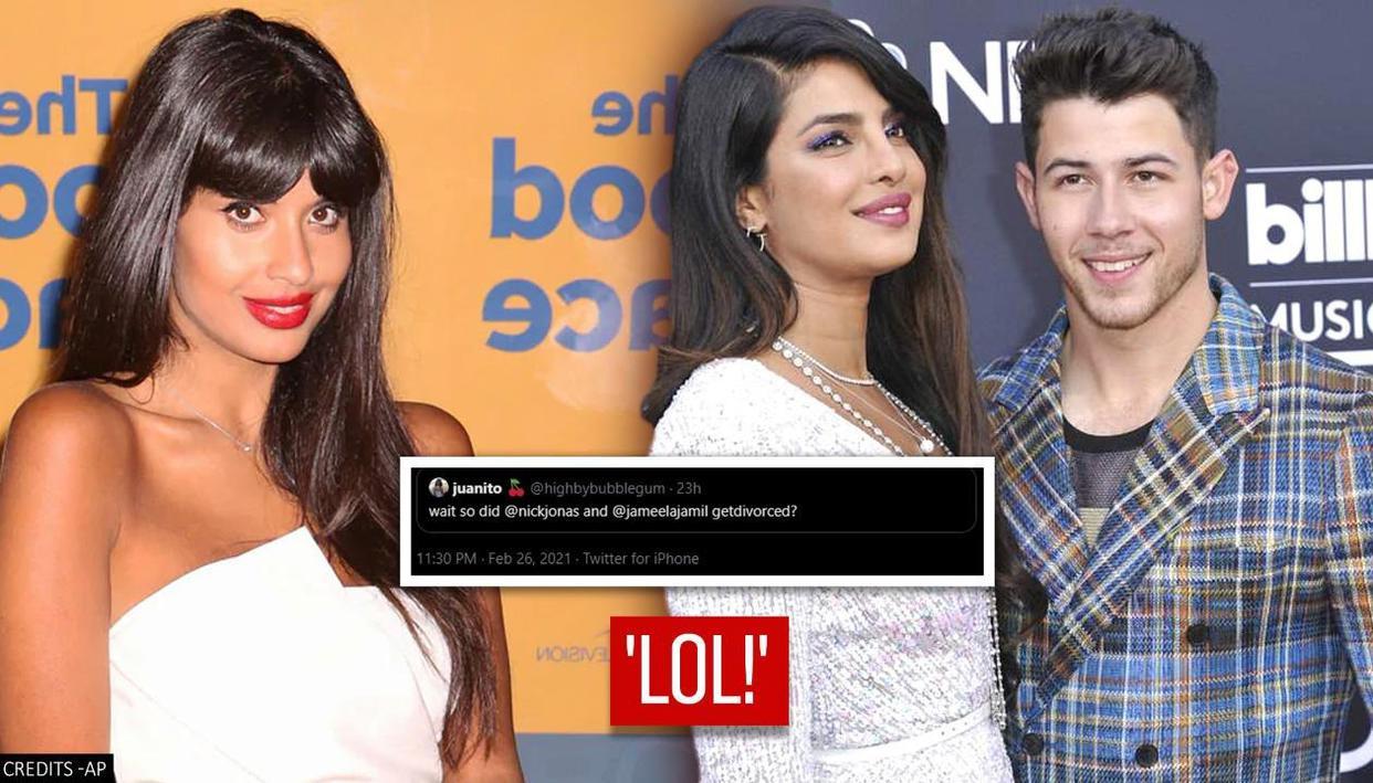 User confuses Jameela Jamil with Priyanka Chopra, asks if Nick divorced her; actor reacts - Republic TV