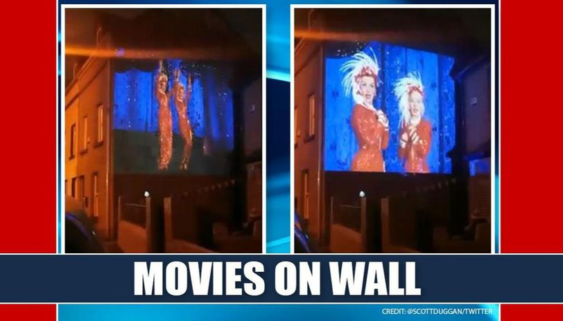 Good News: Ireland man projects movies on walls for neighbors to enjoy amid lockdown