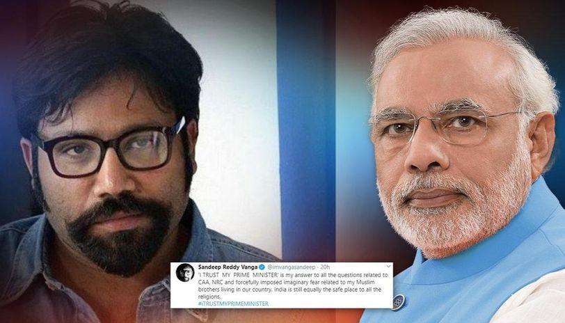 'Kabir Singh' director Sandeep Reddy Vanga backs CAA, says 'I trust my Prime Minister'