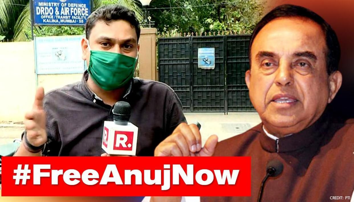 Swamy Questions Silence Of Us Human Rights Bodies Over Republic Reporter S Unlawful Arrest Republic World
