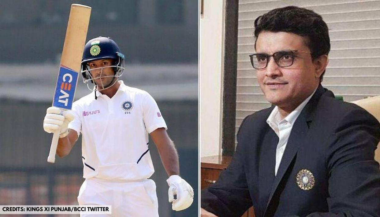 Sourav Ganguly to appear soon on Mayank Agarwal's talk show, thanks KXIP star for invite - Republic World
