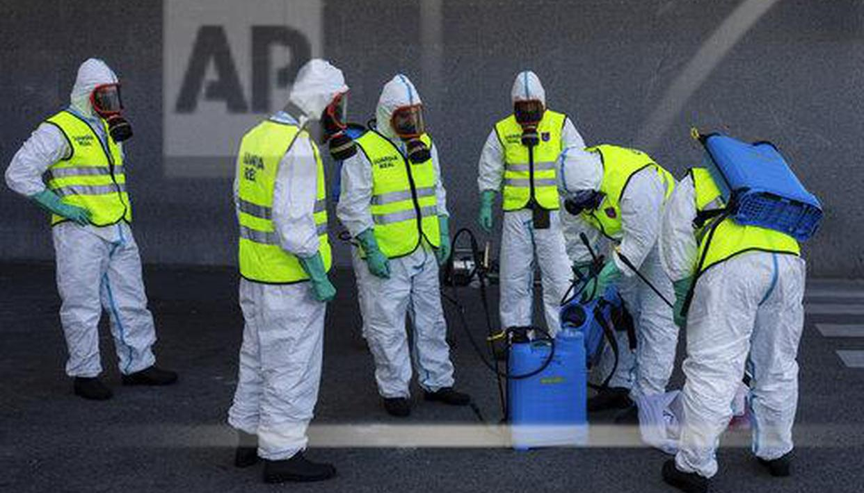 Spain announces 812 virus deaths in 24 hours, total 7340