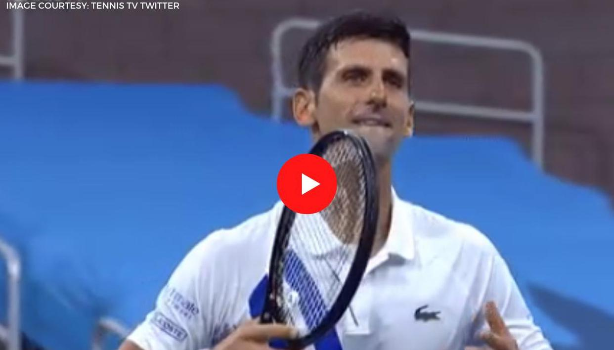 Novak Djokovic Does Typical Post Match Celebration Without Fans In The Arena Watch Video Republic World