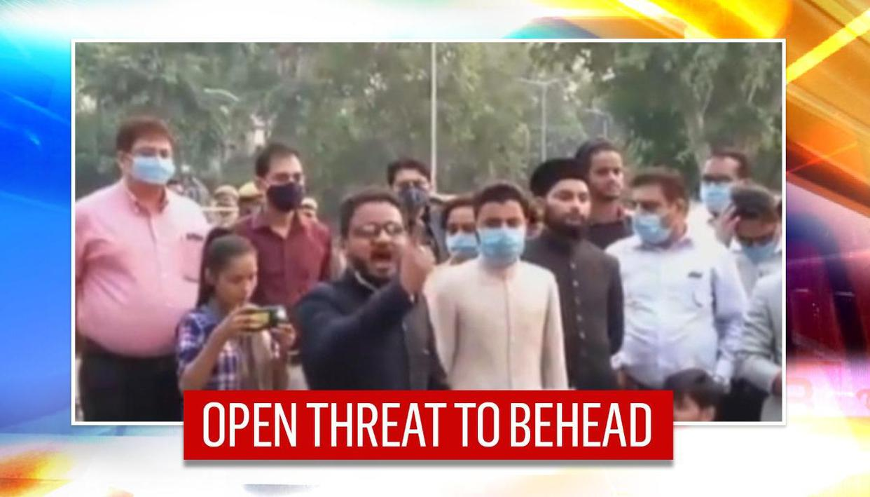 AMU student leader threatens to behead those supporting French Prez Macron