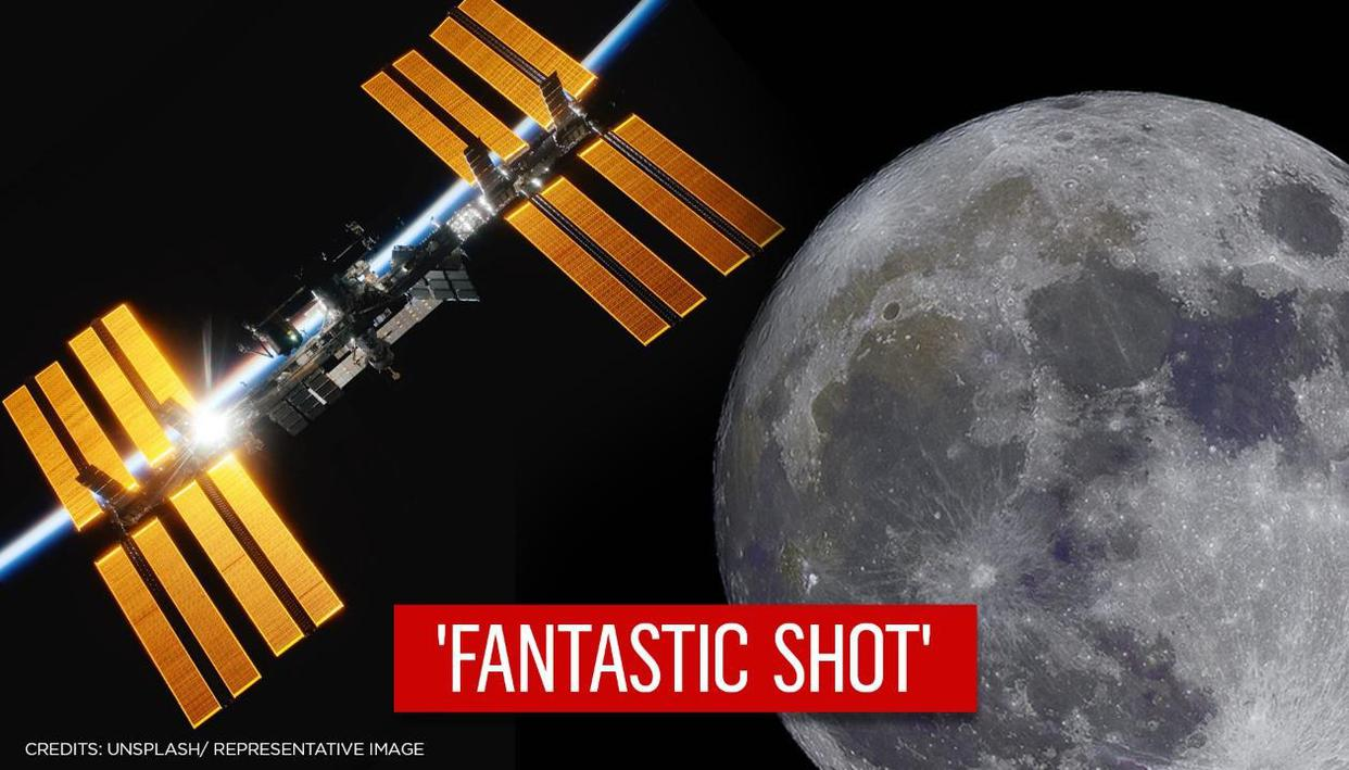 Astrophotographer captures ISS crossing moon, netizens call it 'phenomenal moment'