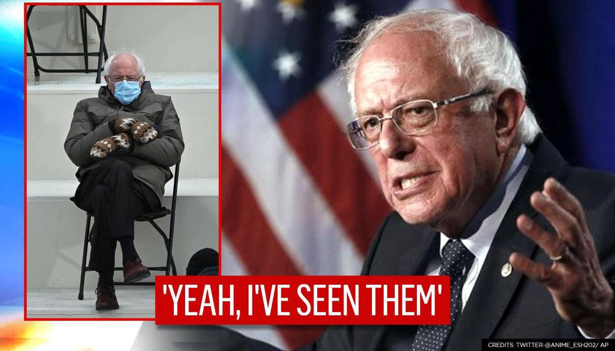 I Was Just Sitting There Bernie Sanders Finally Reacts To Memes On His Viral Mittens