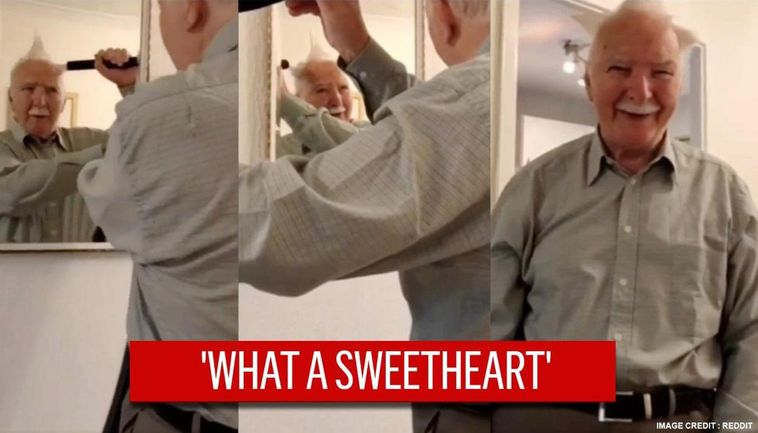 Video Grandpa Uses Vacuum Cleaner To Create Hairstyle Bursts Into Laughter Himself